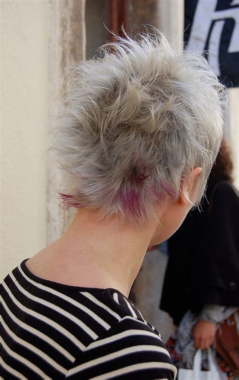 back views of gray hair styles futuristic boho chic gorgeous grey purple