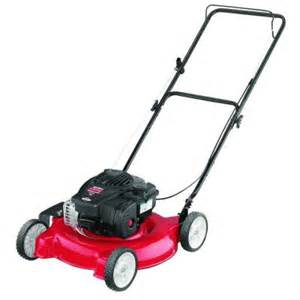 lawn mower in home depot mtd 20 in 125cc ohv briggs stratton walk gas