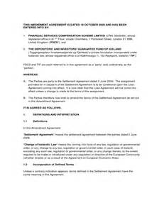 Employment Contract Amendment Letter Amendment Agreement Sle Free