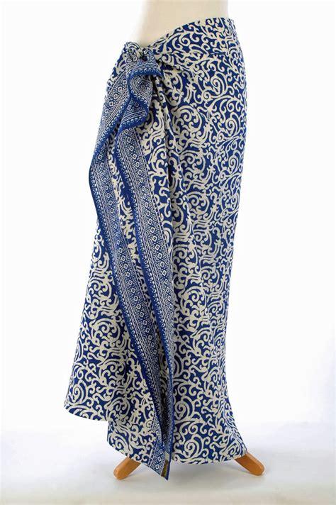 design of batik sarong royal blue on white java batik sarong your sarong