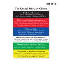 colors of salvation gospel story by colors