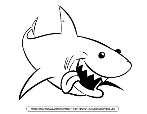 cartoon shark coloring page free cartoon shark clipart shark outline and shark silhouette