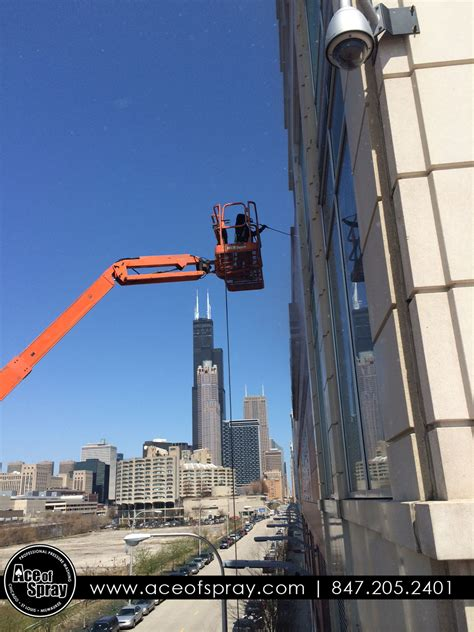 building cleaning chicago ace  spray