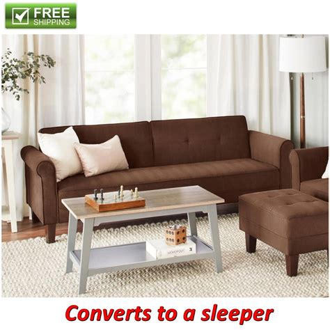 futon convertible microfiber sofa bed brown futon convertible sleeper