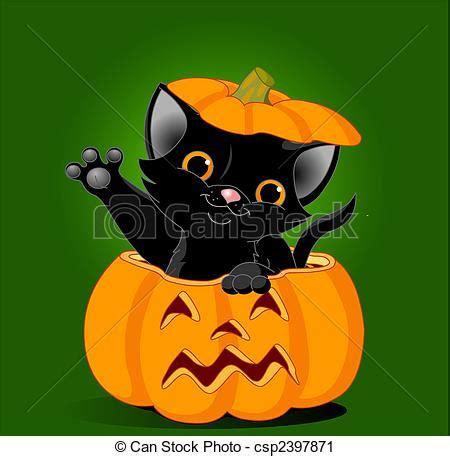 imagenes halloween gato vector clip art de gato calabaza negro gatito saltar