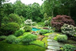 landscaping with ornamental grasses guide on the back yard using pool and green grass so