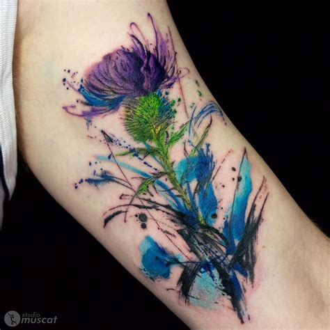 watercolor tattoos glasgow by haruka the watercolor style tattoos