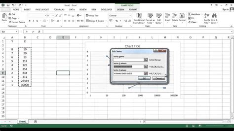 semi log plot on excel youtube how to make a semi log graph in excel 2010 graphique