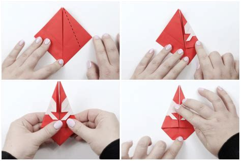 How To Make A Origami Santa - how to make a origami santa