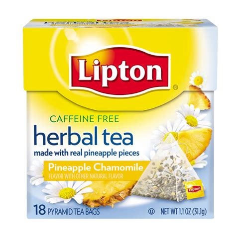 A Tastetea Reminder And Free Tea Offer by Lipton Herbal Tea Pyramids Pineapple