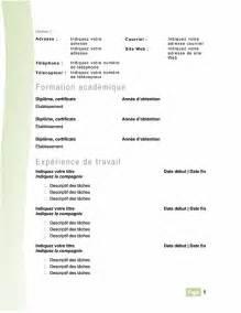 cv moderne vert office templates
