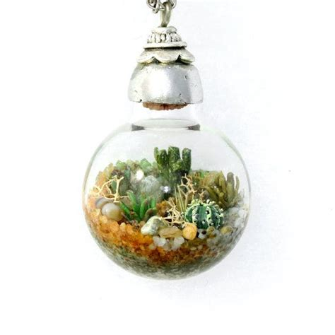 Handmade Terrariums - handmade terrarium nature jewelry terrarium necklace
