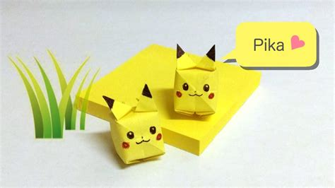 sticky note origami pikachu sticky note origami