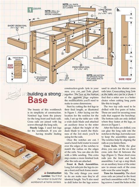 heavy duty work bench plans 25 best ideas about heavy duty workbench on pinterest