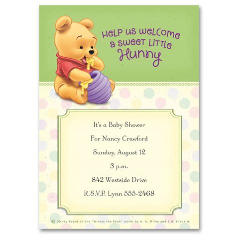 winnie the pooh baby shower invitations best invitations card ideas