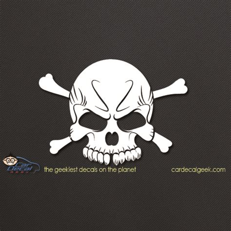 cool decals cool skull vinyl car window decal sticker