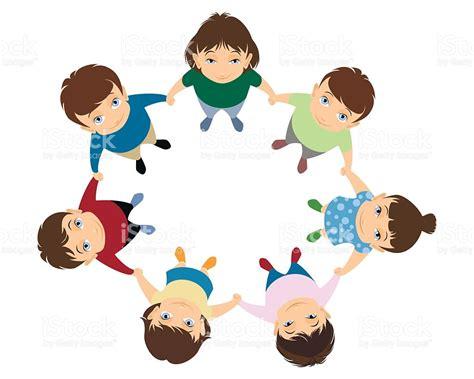 imagenes niños tomados de la mano children holding hands stock vector art more images of