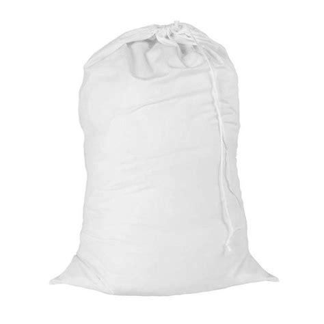 Honey Can Do 24 In X 36 In White Cotton Laundry Bag Lbg Laundry Bag