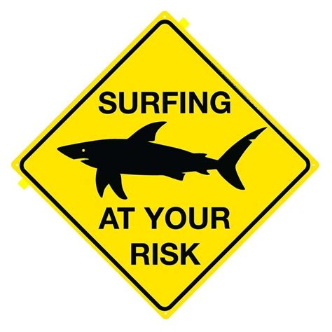 Next Doormat Shark Surfing At Your Risk Tin Signs Metal Signs Sold