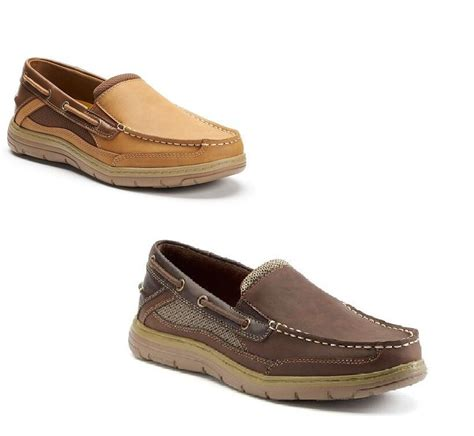 croft and barrow boat shoes croft barrow mens boat shoes slip on man made memory size