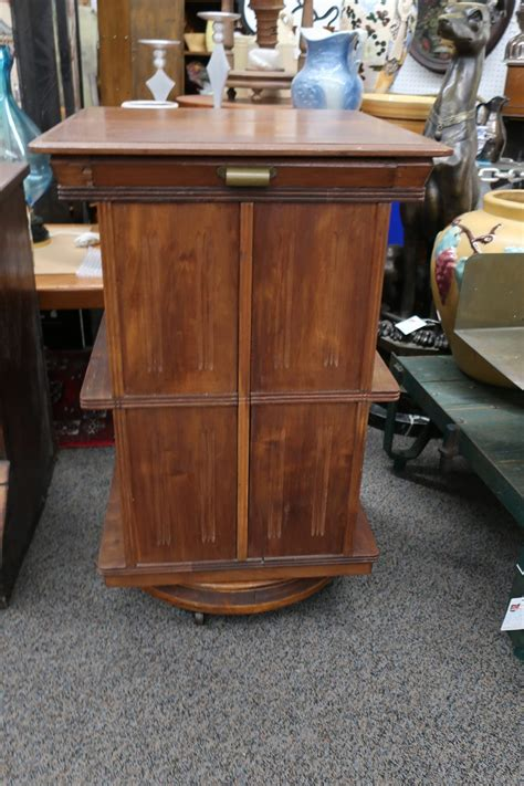 sargent mfg  revolving bookcase  pullout book