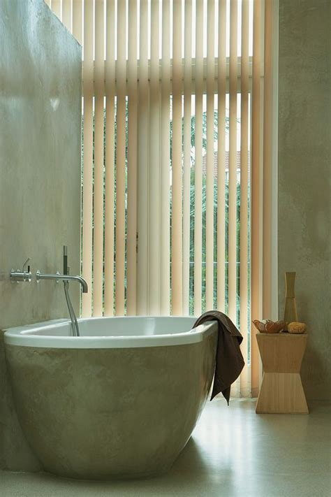 Vertical Blinds Bathroom by A Serene Bathroom With Vertical Solutions 174 Select Vertical