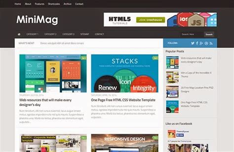 blogger themes responsive 2015 minimag responsive blogger template free download