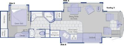 country coach floor plans 2006 country coach inspire 360 40 davinci floorplan