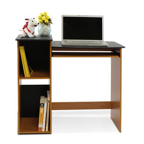 Computer Desk Light Furinno Econ Light Cherry Computer Writing Desk 99914r1lc Bk The Home Depot