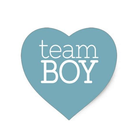 Baby Shower Gifts Diy by Gender Reveal Baby Shower Team Blue Boy Heart Sticker