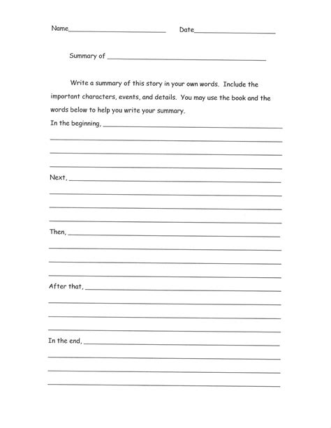 Outline Summary by Summary Essay Outline Images