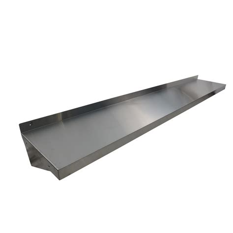 stainless steel shelves wall mount 1220mm x 356mm new stainless steel wall mounted shelf shelving display unit ebay