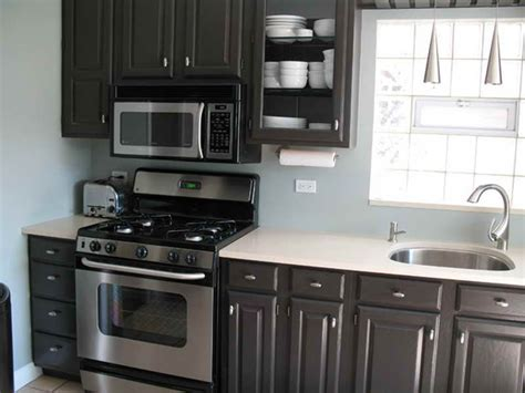bloombety black paint color for kitchen cabinets paint bloombety painting black brown kitchen cabinets for