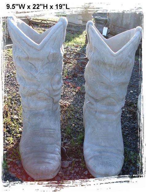 Large Cowboy Boot Planter by Concrete Planters Baja Garden Deck And Patio Decor