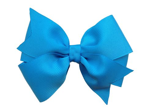 hair bows island blue hair bow blue hair bow turquoise bow 4 inch