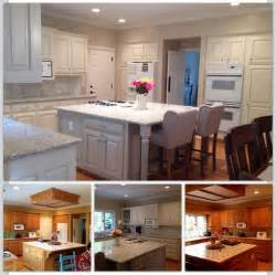 Paint Kitchen Cabinets White Before And After Beautiful White Kitchen With Painted Cabinets Before After Photos All We Did Was Paint Oak