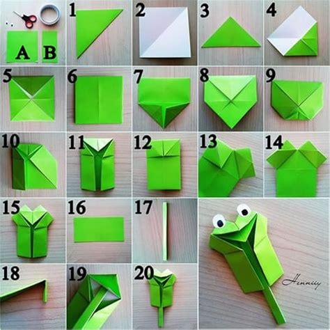 Katak Origami - berbagai cara membuat origami kodok atau katak gt do it