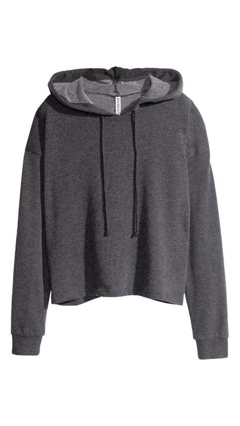 cropped hoodie h amp m grey england pinterest