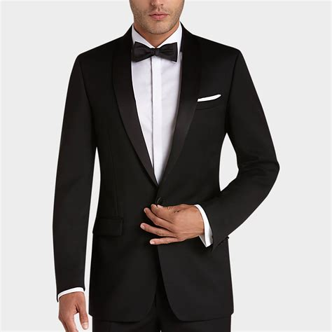 mens wear house calvin klein black slim fit tuxedo tuxedos men s wearhouse groomsmen pinterest