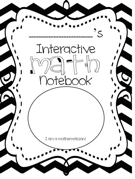 math interactive notebook templates grade wow interactive math notebook