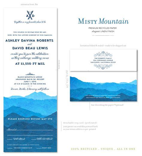 colorado wedding invitations colorado wedding invitations on 100 recycled paper