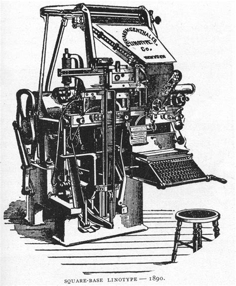 The Quot Square Base Quot Linotype 1890 1892 In The Us