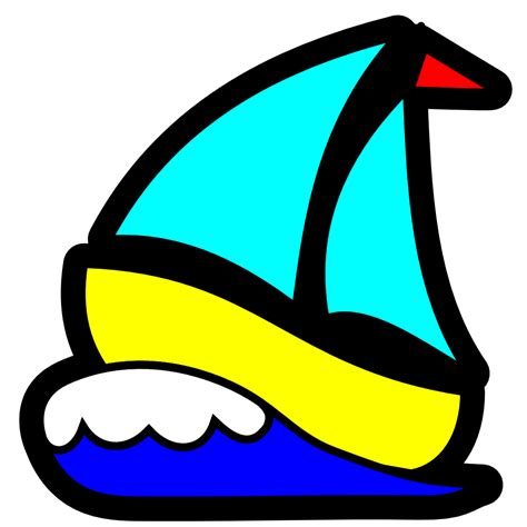 sailboat waves icon onlinelabels clip art sailboat icon