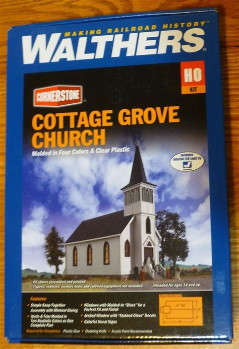 Culvers Cottage Grove by Walthers Ho 933 3655 Cottage Grove Church Building Kit