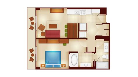 villas at wilderness lodge floor plan copper creek villas and cabins at disney s wilderness lodge rooms and floor plans photo 5 of 12