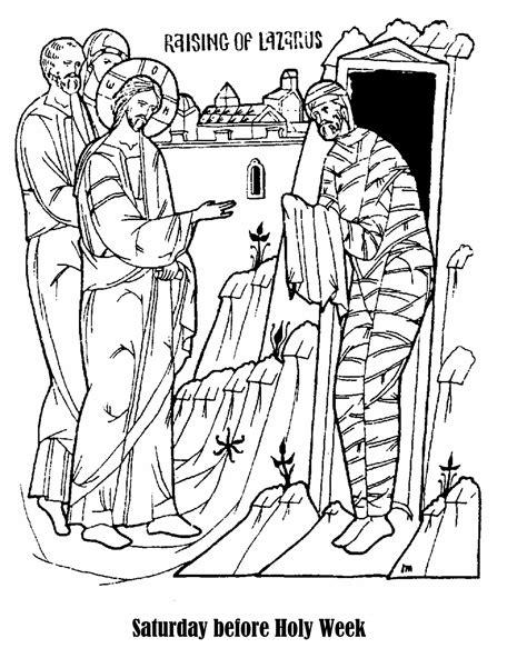 coloring pages jesus raises lazarus free jesus raises lazarus coloring pages