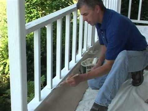 caulk  paint porch rail youtube