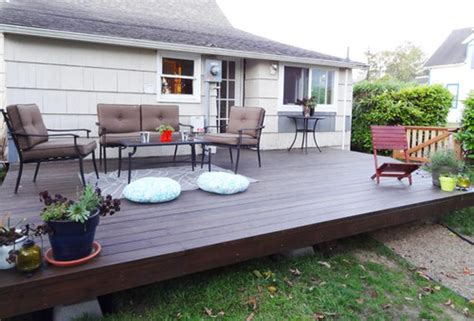 diy backyard patio 15 diy decks you can build yourself for outdoor retreat