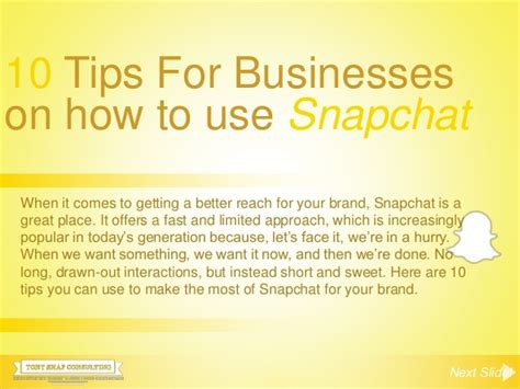 10 Tips On How To A On A Date by 10 Tips For Businesses On How To Use Snapchat