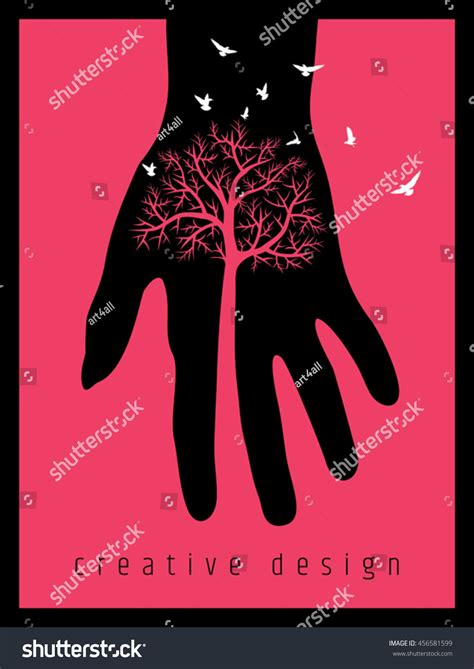creative poster design vector creative poster design save tree stock vector 456581599